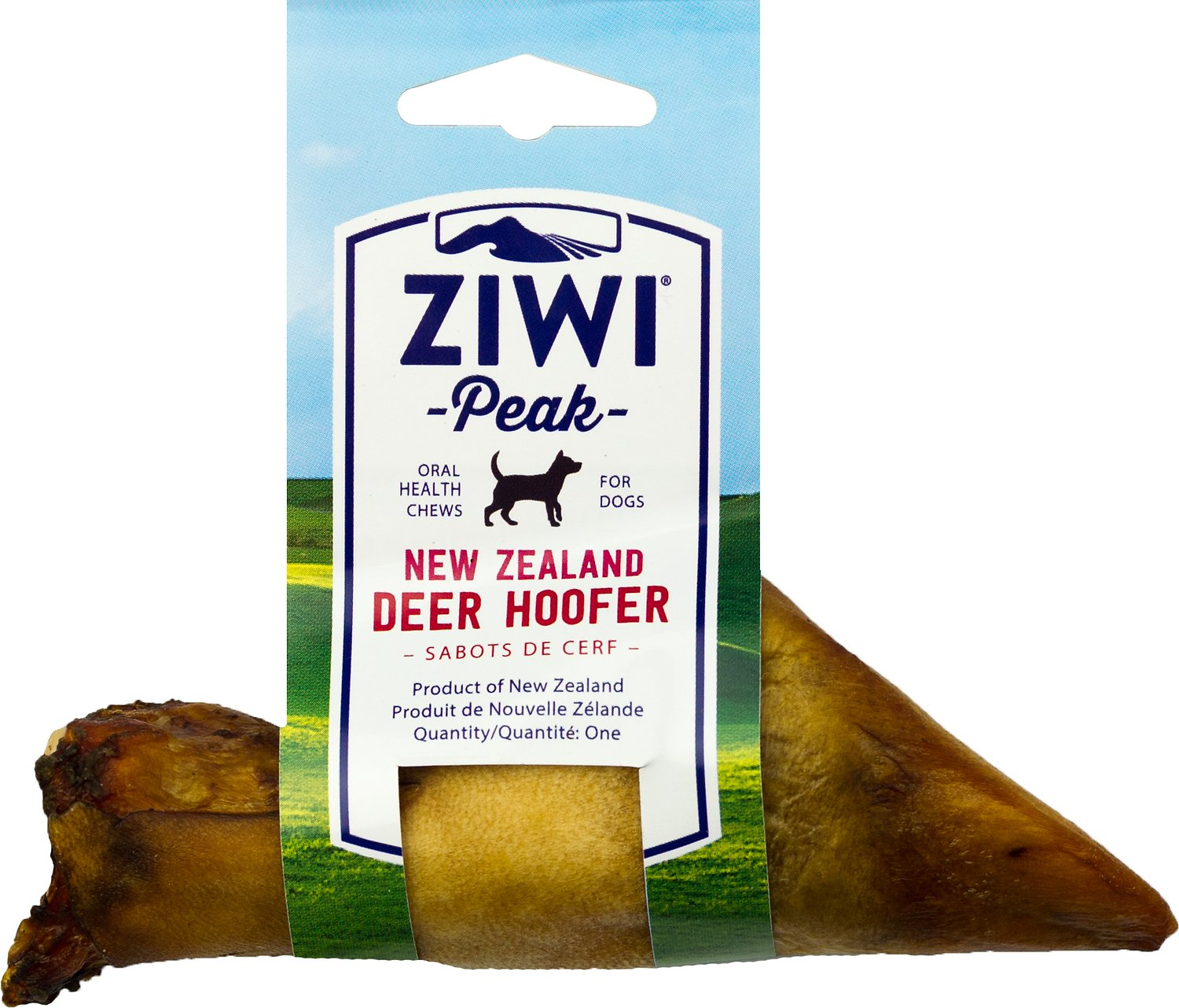 Ziwi Dog Peak Oral Chews Venison Hoofers Dog Bone Chew, 1.9-oz