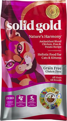 Solid Gold Nature's Harmony: Antioxidant Blend Chicken, Peas & Potato Recipe Grain-Free Dry Cat Food