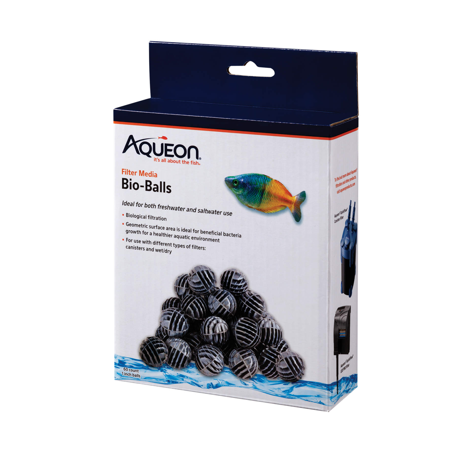 Aqueon QuietFlow Bio-Balls Filter Media, 60-count