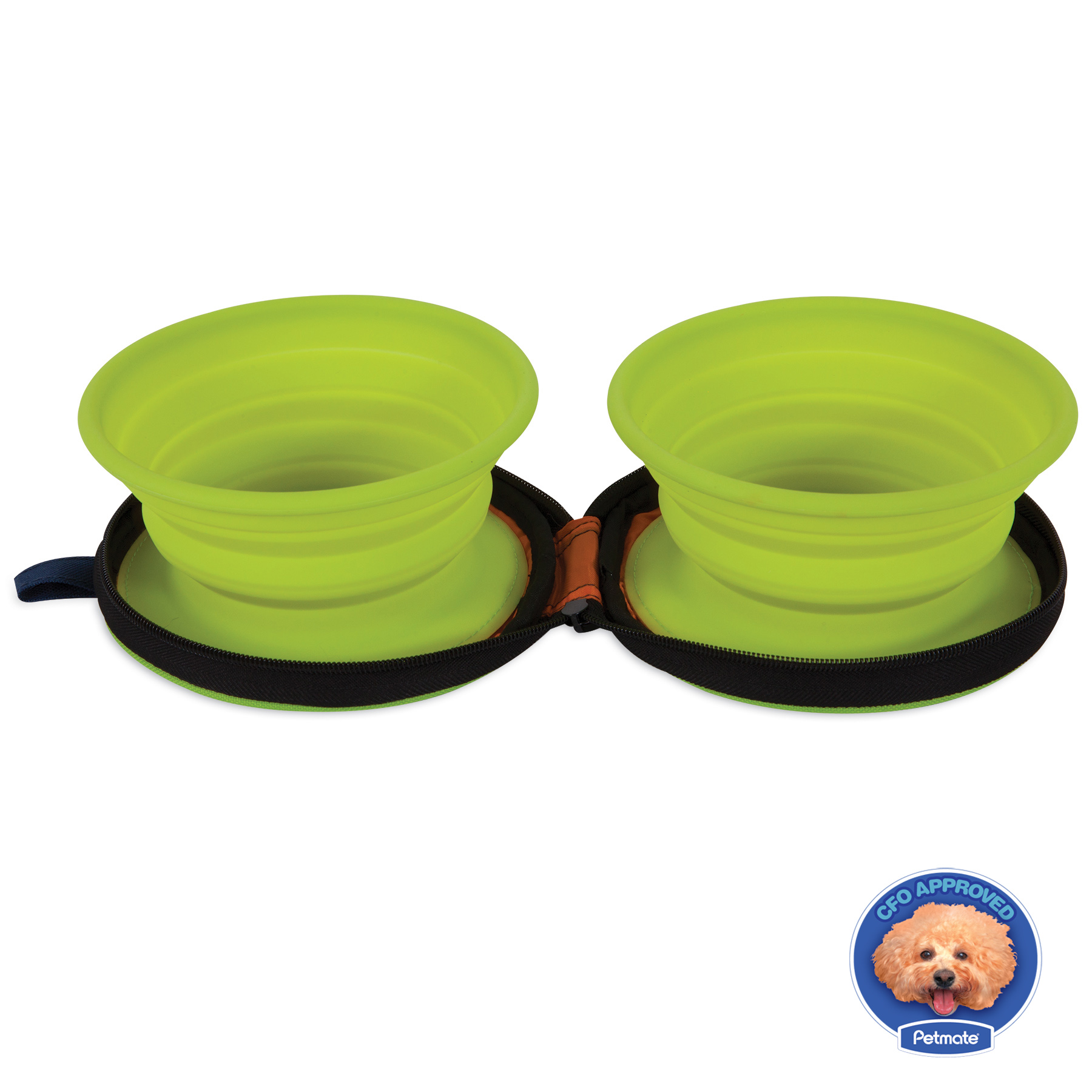 Petmate Silicone Duo Travel Dog Bowl, Small