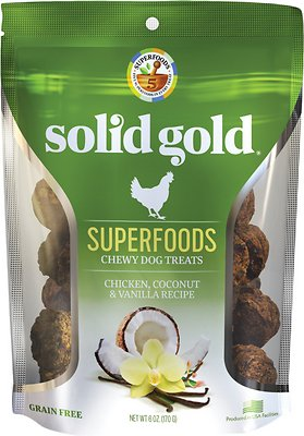 Solid Gold Superfoods Chicken, Coconut & Vanilla Recipe Grain-Free Chewy Dog Treats