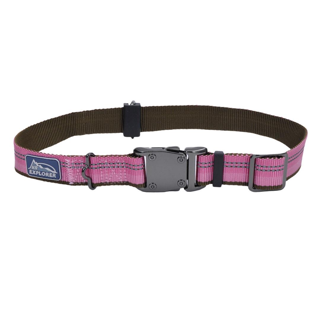 Coastal Pet K9 Explorer Reflective Adjustable Dog Collar, Rosebud, 1-in x 18-26-in