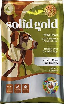Solid Gold Wild Heart Quail, Chickpeas & Pumpkin Recipe Grain-Free Adult Dry Dog Food, 24-lb bag