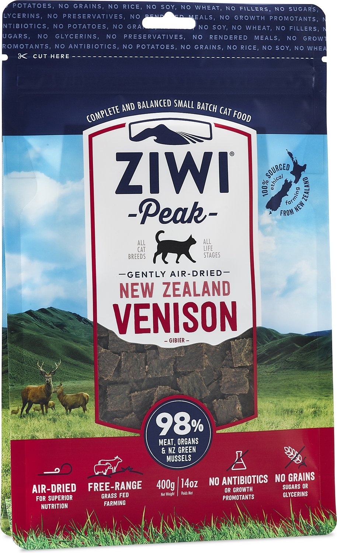 Ziwi Cat Peak Venison Recipe Air-Dried Cat Food, 14-oz bag