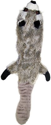Ethical Pet Skinneeez Forest Series Raccoon Stuffingless Dog Toy
