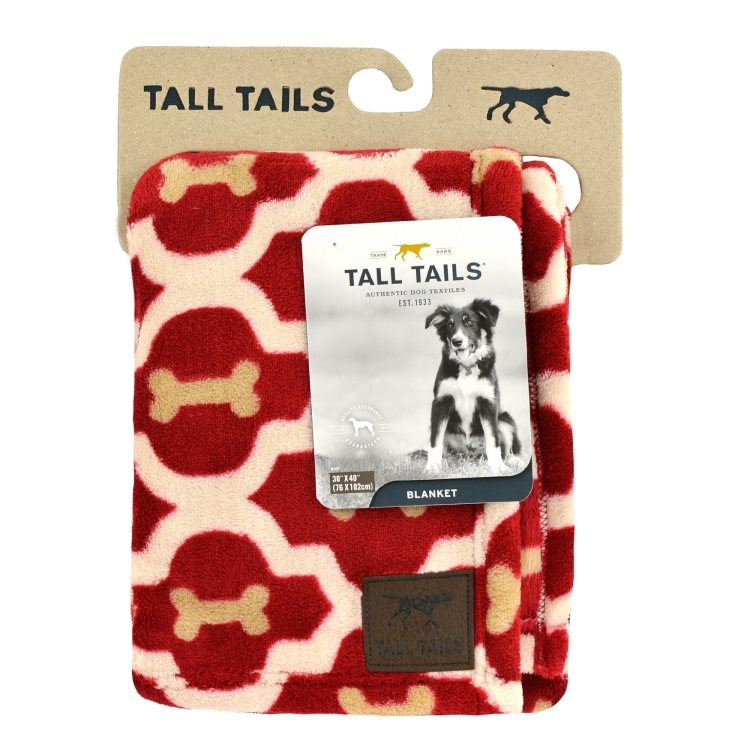 Tall Tails Red Bone Dog Blanket, 30-in x 40-in