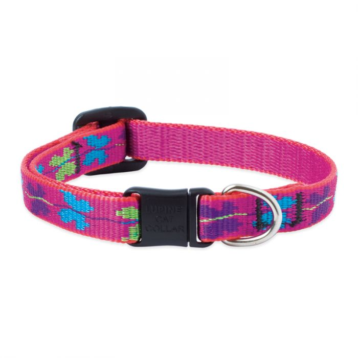 Lupine Pet Original Designs Safety without Bell Cat Collar, Wing It, 1/2-in x 8-12-in