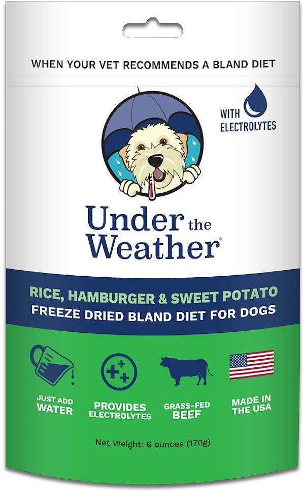 Under the Weather Rice, Hamburger & Sweet Potato Flavor Freeze-Dried Dog Food, 6-oz