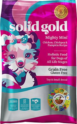 Solid Gold Mighty Mini Chicken, Chickpeas & Pumpkin Grain-Free Toy & Small Breed Dry Dog Food
