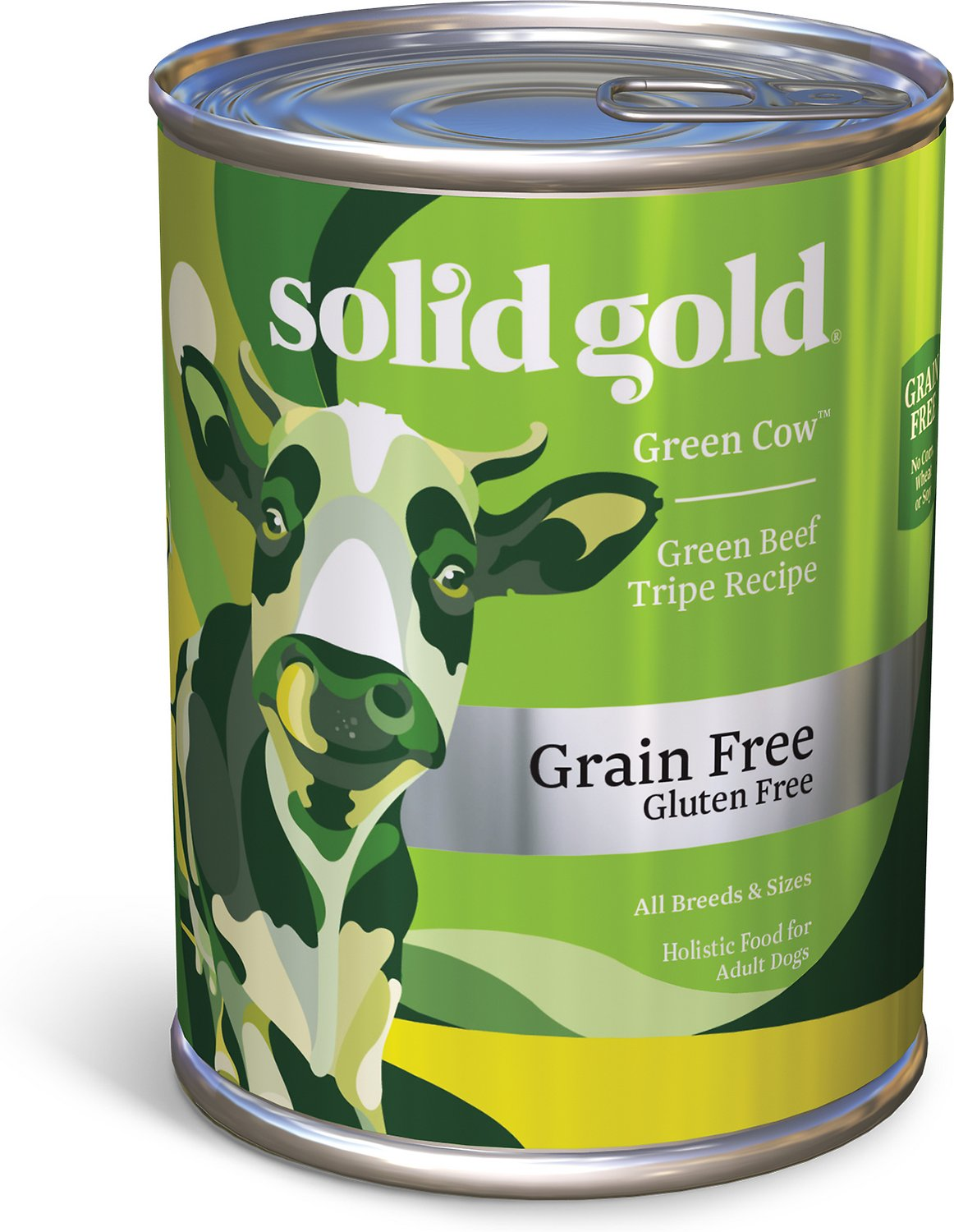 Solid Gold Green Cow Tripe in Beef Broth Grain-Free Canned Dog Food, 13.2-oz