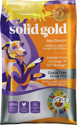 Solid Gold Sun Dancer Chicken & Tapioca Recipe with Quinoa Grain-Free Dry Dog Food, 4-lb bag