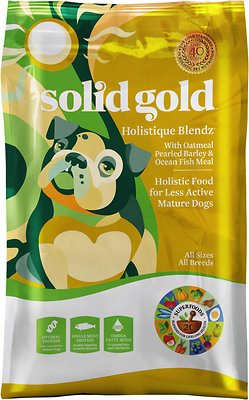 Solid Gold Holistique Blendz with Oatmeal, Pearled Barley & Ocean Fish Meal Dry Dog Food, 15-lb bag