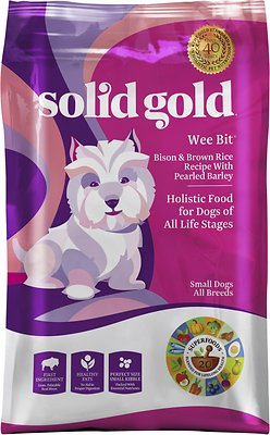 Solid Gold Wee Bit Bison & Brown Rice Recipe with Pearled Barley Small Breed Dry Dog Food