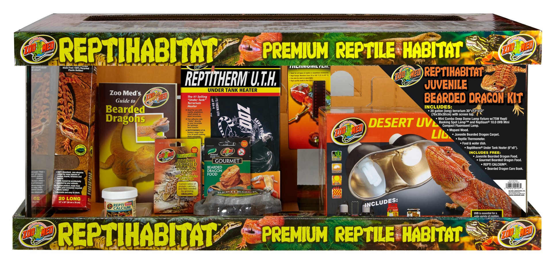 Zoo Med Reptihabitat Premium Reptile Habitat Juvenile Bearded Dragon Kit