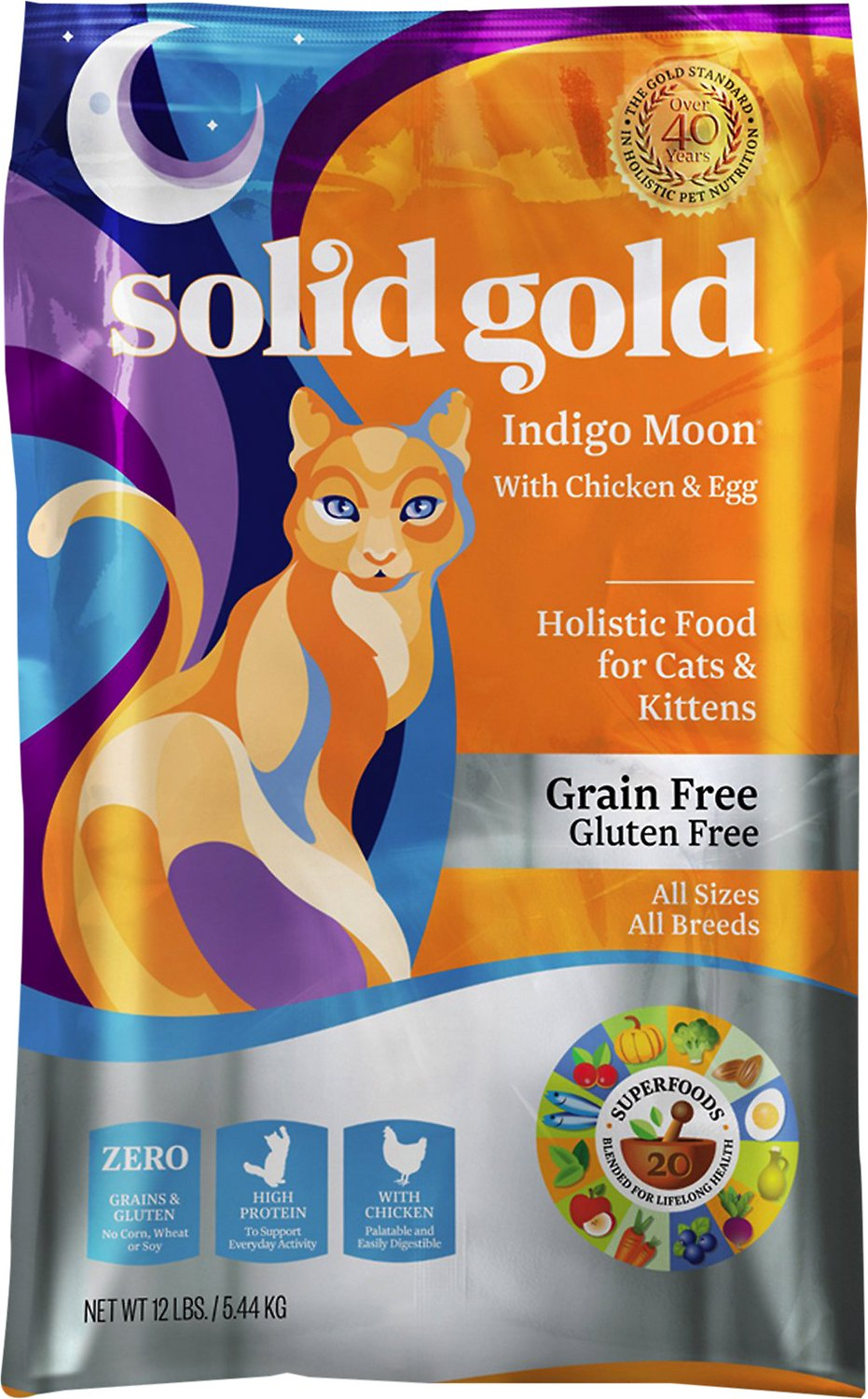 Solid Gold Indigo Moon with Chicken & Eggs Grain-Free Dry Cat Food Image