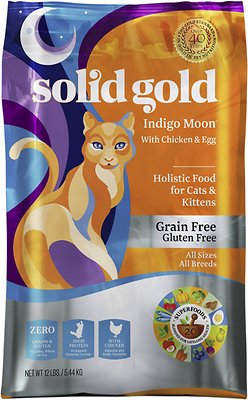 Solid Gold Indigo Moon with Chicken & Eggs Grain-Free Dry Cat Food, 3-lb bag