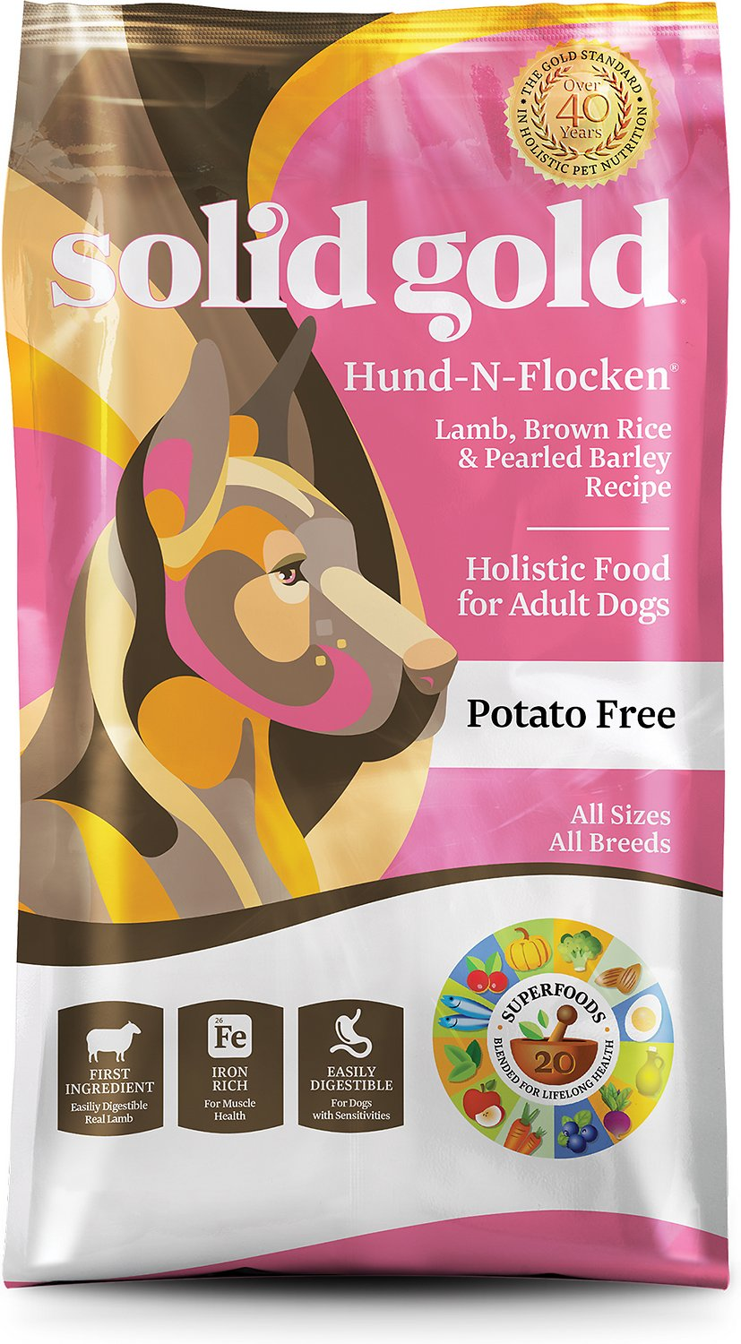 Solid Gold Hund-n-Flocken Lamb, Brown Rice & Pearled Barley Recipe Adult Dry Dog Food Image