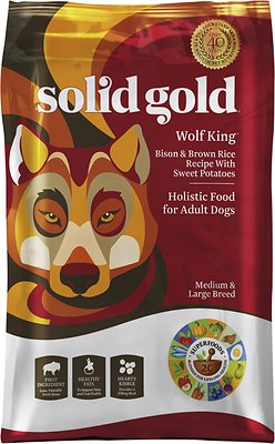 Solid Gold Wolf King Bison & Brown Rice Recipe with Sweet Potatoes Adult Dry Dog Food