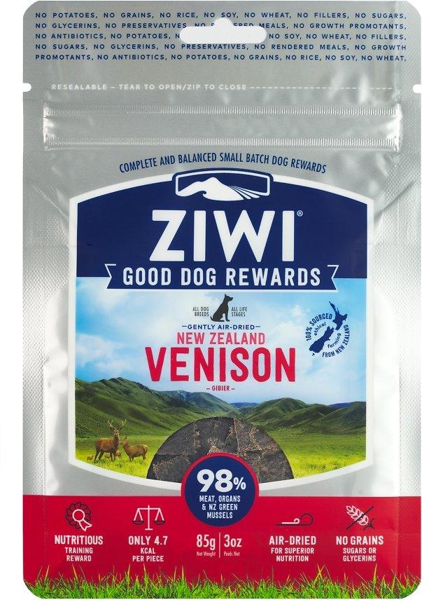 Ziwi Dog Peak Good Dog Rewards Venison Recipe Air-Dried Dog Treats, 3-oz bag