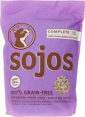 Sojos Complete Turkey Grain-Free Freeze-Dried Cat Food, 4-lb bag