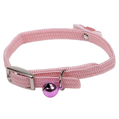 Coastal Pet Li'l Pals Safety Adjustable with Bow Kitten Collar, Pink, 5/16-in