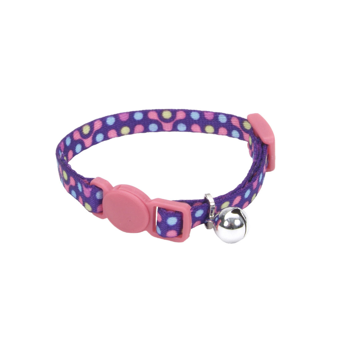 Coastal Pet Li'l Pals Adjustable Breakaway Kitten Collar, Purple Gear, 5/16-in