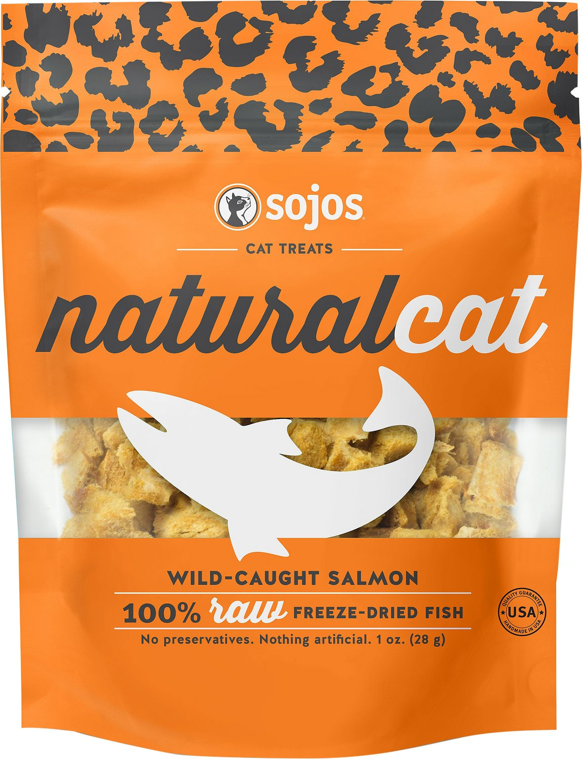 Sojos NaturalCat Wild-Caught Salmon Freeze-Dried Cat Treats, 1-oz bag