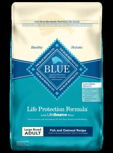 Blue Buffalo Life Protection Formula Large Breed Adult Fish & Oatmeal Recipe Dry Dog Food, 30-lb bag