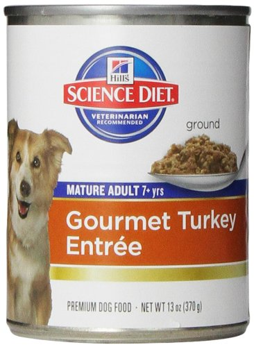 Hill's Science Diet Adult 7+ Turkey & Barley Entree Canned Dog Food, 13-oz can