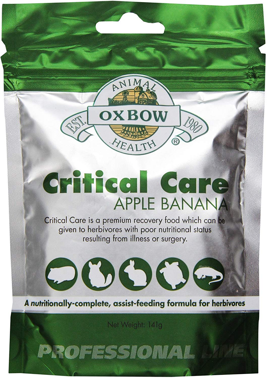 Oxbow Critical Care Apple/Banana Flavored Pet Supplement, 141-g