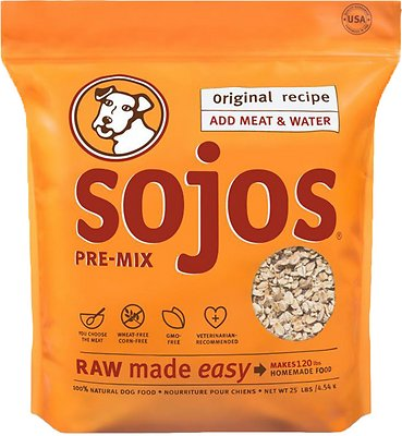 Sojos Pre-Mix Original Recipe Freeze-Dried Dog Food Mix, 25-lb bag