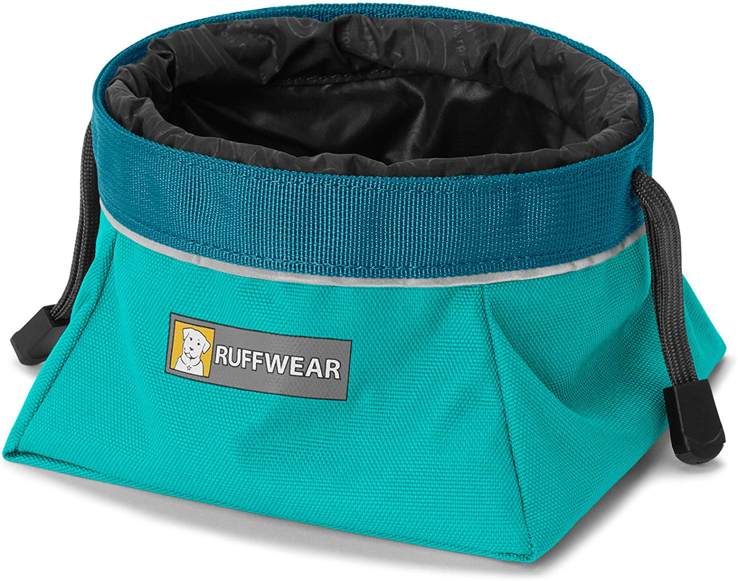Ruffwear Quencher Cinch Top Food & Water Dog Bowl, Meltwater Teal, Large