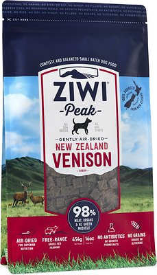 Ziwi Dog Peak Venison Recipe Grain-Free Air-Dried Dog Food, 16-oz bag