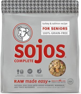 Sojos Complete Turkey & Salmon Recipe Senior Grain-Free Freeze-Dried Raw Dog Food, 7-lb bag