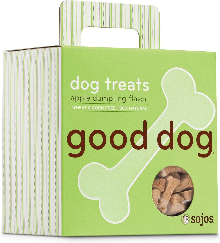 Sojos Good Dog Apple Dumpling Flavor Dog Treats, 8-oz box