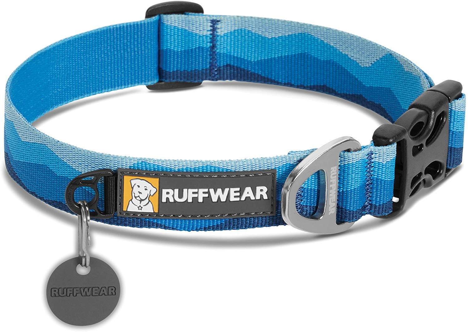 Ruffwear Hoopie Dog Collar, Blue Mountain, 14-20-in
