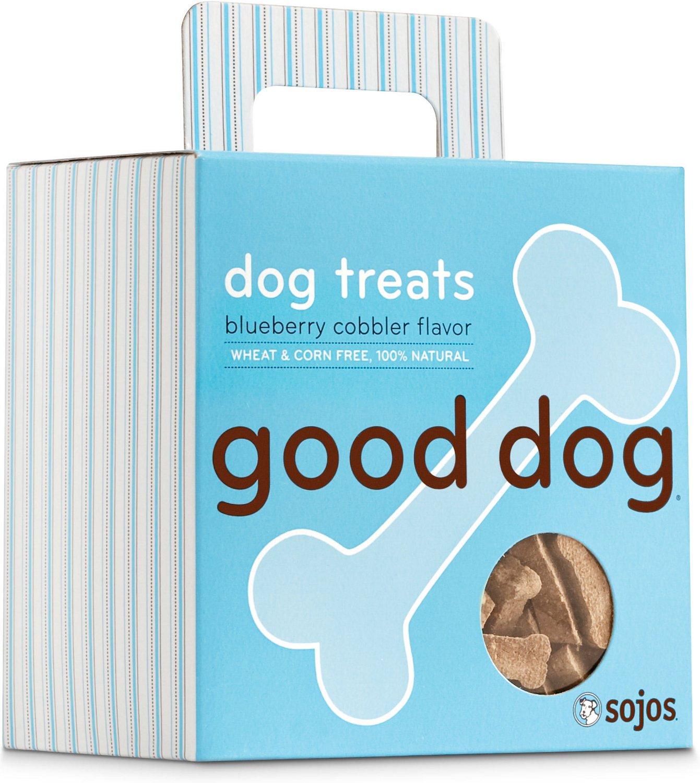 Sojos Good Dog Blueberry Cobbler Flavor Dog Treats, 8-oz box