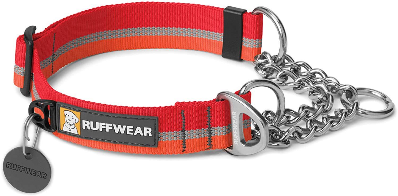 Ruffwear Chain Reaction Dog Collar, Kokanee Red, Small