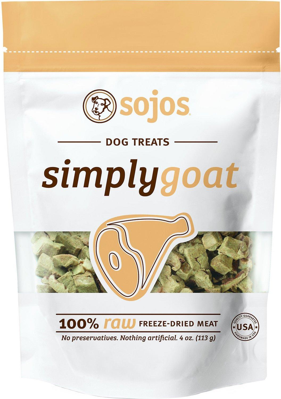 Sojos Simply Goat Freeze-Dried Dog Treats, 4-oz bag