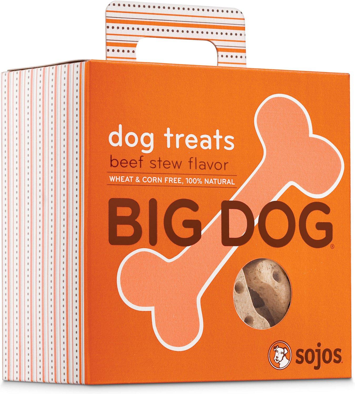 Sojos Big Dog Beef Stew Flavor Dog Treats, 12-oz box