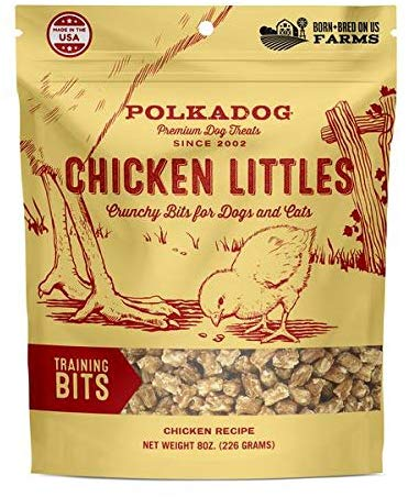 Polka Dog Bakery Chicken Little Chicken Training Bits Dog Treats, 8-oz
