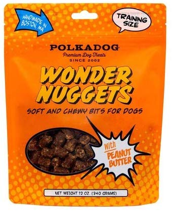 Polka Dog Bakery Wonder Nuggets with Peanut Butter Dog Treats, 12-oz