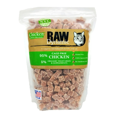 Raw Dynamic Cage-Free Chicken Formula Raw Cat Food, 3-lb