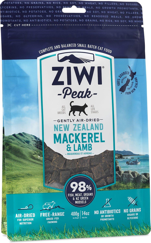 Ziwi Cat Peak Mackerel & Lamb Recipe Air-Dried Cat Food, 14-oz bag