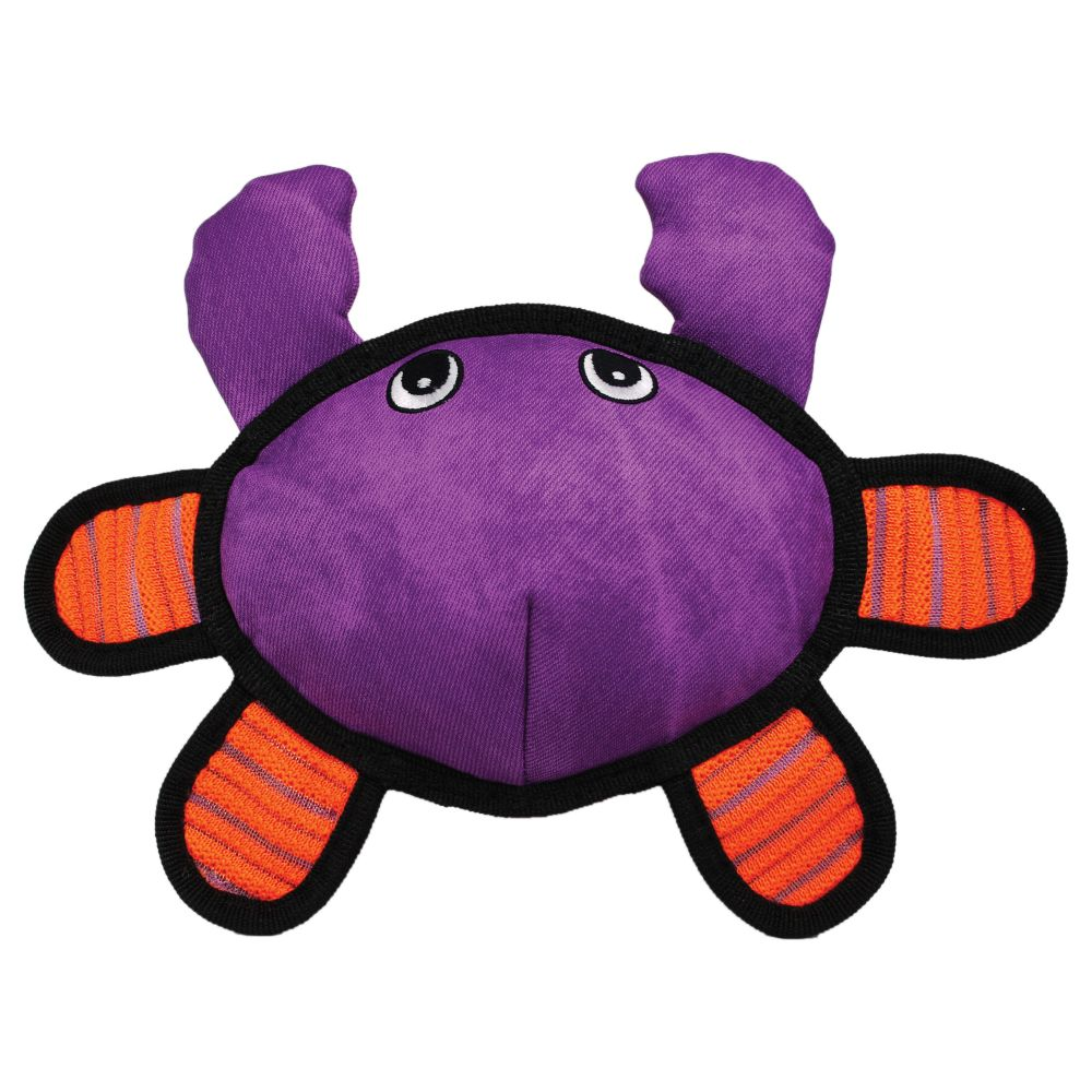 KONG Roughskinz Crab Dog Toy, Purple, X-Small/Small