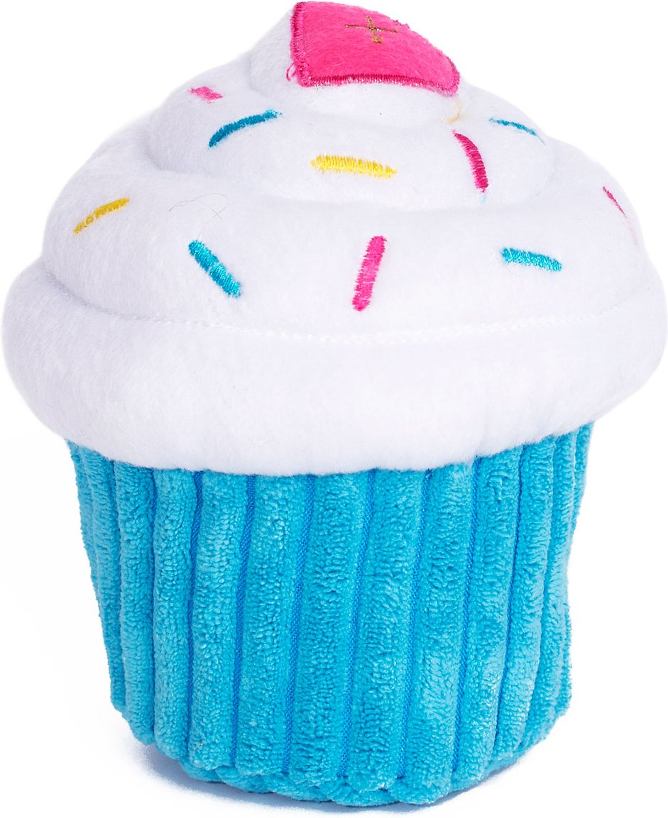 ZippyPaws Cupcake Dog Toy, Blue