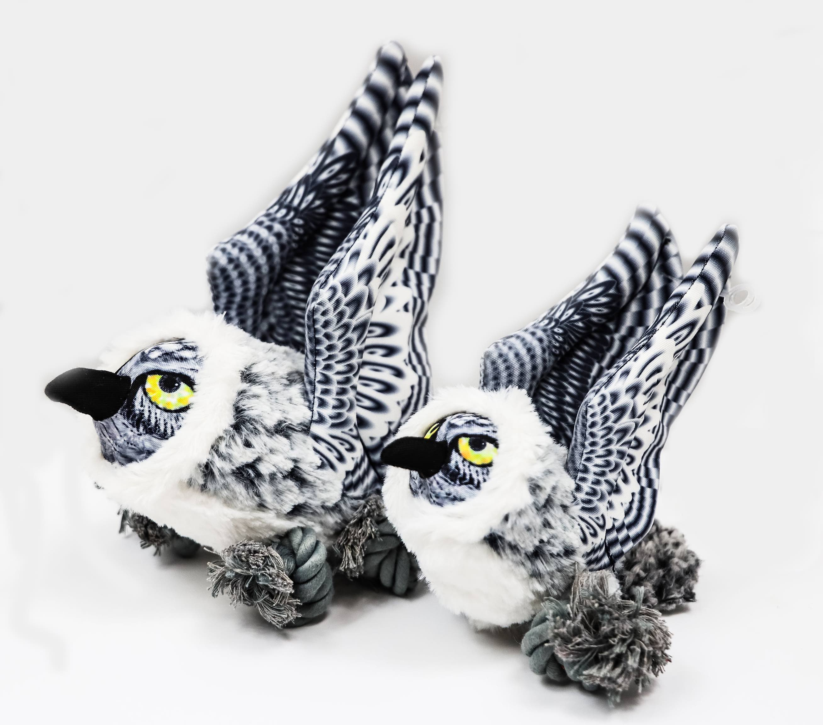 Steel Dog Ballistic Ballers Snowy Owl Dog Toy, Regular