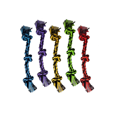 Multipet Nuts for Knots 3-Knot Rope Dog Toy, Color Varies, 15-in