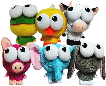 Multipet Big Eyez Assorted Plush Dog Toy, Character Varies