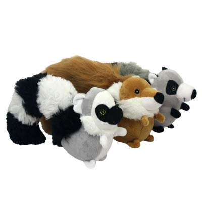 Multipet Cur-Tails Dog Toy, Assorted, 9-in